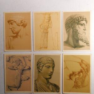 6 καρτ ποστάλ της Ταχυδρομικής Υπηρεσίας (1941)