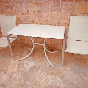 Τραπεζι με δυο καρεκλες αλουμινιου AVANT GARDE Εσωτερικού και εξωτερικού χώρου