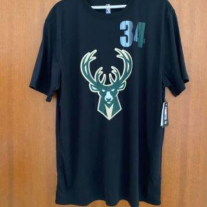 Giannis Antetokounmpo 34 Milwaukee Bucks NBA Champions Basketball T-Shirt XL NEW