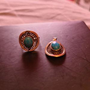 σετ δαχτυλίδι και κρεμαστό  925