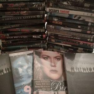 60 Θήκες Πλαστικές για DVD/ CD μαζί με εξώφυλλα ταινιών