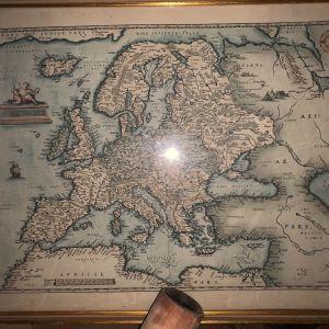 ORTELIUS, Abraham (1527-1598) σπανιοτατος χάρτης της Ευρώπης από το 1589