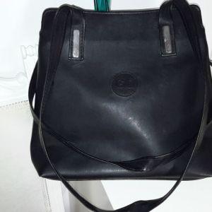 Τσάντα δέρμα.