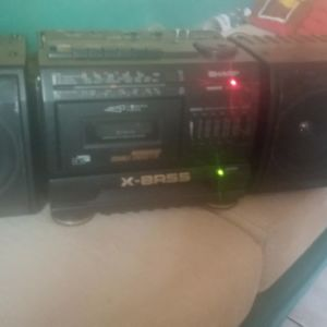 Διπλό ραδιοκασετοφωνο ,  vintage Boombox sharp wf-t380h(bk) ,suround system