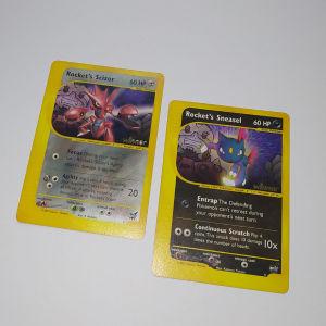 Rockets Scizor & Rockets Sneasel Winner Promo NM Pokemon Cards