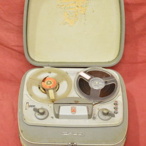Μαγνητόφωνο βαλίτσα ''GRUNDING TK20'' της δεκαετίας του 1960 - λειτουργικό.