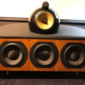 Κεντρικο  ηχειo  B&W  HTM1D  Cherrywood  center  speaker