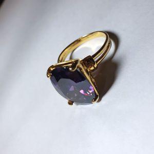 Χρυσό δαχτυλίδι 14Κ με αμέθυστο, 9.21γρ.