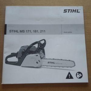 Οδηγιες χρησης stihl ms 171,181,211.