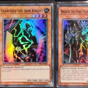 Breaker the Dark Magical Warrior Super rare + Gearfried the Iron Knight Super rare