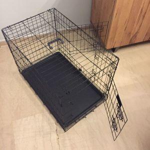 Συρμάτινο Κλουβί Σκύλου Crate με 2 Πόρτες 77x48x55εκ.
