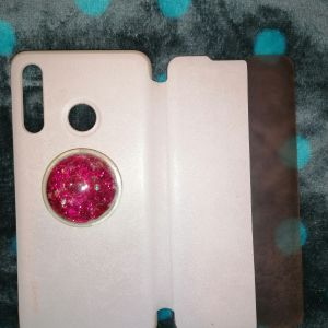 HUAWEI Θήκη View Cover για Huawei P30 Lite, Ροζ & Popsocket