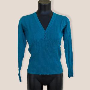 Τιρκουάζ μακρυμάνικη μπλούζα