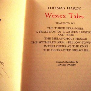 Thomas Hardy. Wessey Tales