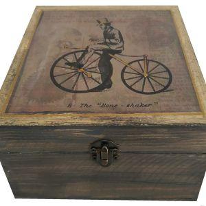 Χειροποίητο Ξύλινο κουτί αποθήκευσης με εικόνα VINTAGE