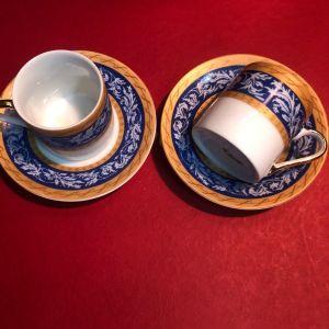 Limoges Σετ  καφέ 4 τμχ από  2 Φλιτζάνια και 2 πιάτα  για κάθε χρήση ...Αμεταχείριστα!