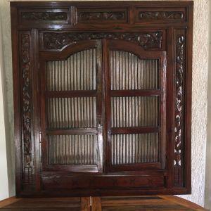 Ινδικο ξυλογλυπτο διακοσμητικο τοιχου/κορνιζα καθρεπτη