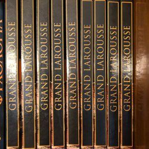 Εγκυκλοπαίδεια Grand Larousse (9 τόμοι) Ελληνικά Γράμματα Βιομηχανική βιβλιοδεσία σε άριστη κατάσταση.