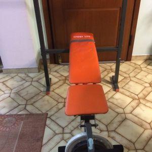 Πάγκος Γυμναστικής + εξάρτημα ενδυνάμωσης ποδιών