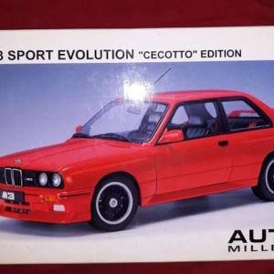 BMW M3 SPORT EVOLUTION CECOTTO EDITION / AUTOART MILLENNIUM / 1:18 - RED / DIECAST