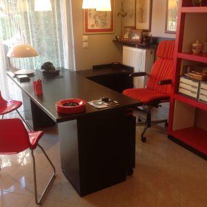 ιταλικό γραφείο tecno με καρέκλα (2 κομμάτια το γραφείο)