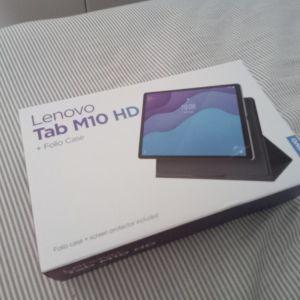 Lenovo tablet m10 hd gen 2 με θήκη και τζαμακι καινούριο με αποδειξη