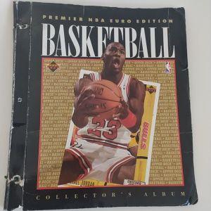 Συλλεκτικό άλμπουμ με κάρτες NBA 1992