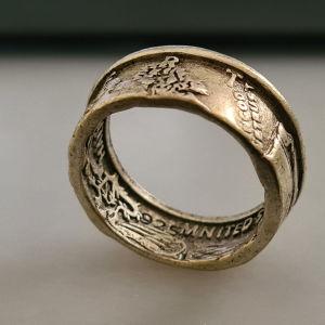 half dollar χειροποίητο ring