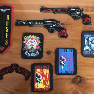 Vintage ραφτά σήματα Guns N Roses (80s-90s)