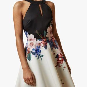 Φόρεμα Ted Baker Tildda Jamboree Skater Dress, White (SMALL, UK 8)
