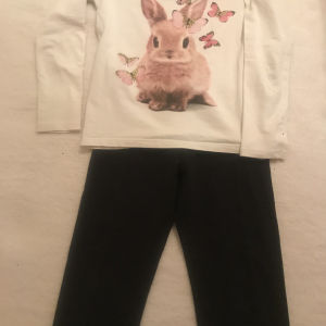 Σετ H&M μπλούζες με κολάν για κορίτσι 4-6 ετών