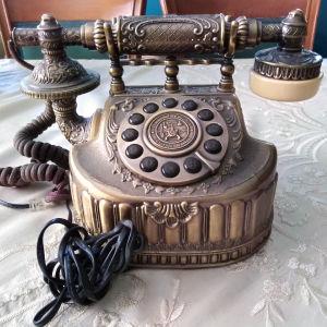 διακοσμητικό κ λειτουργικό τηλέφωνο μπρουτζινο