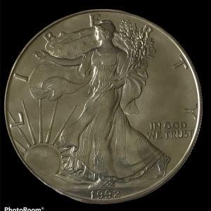 USA 1 oz silver 1992