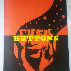 """Αφίσα electronic music duo """"Fuck Buttons"""""""
