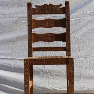 Αντίκα Σκαλιστή Ξύλινη Καρέκλα