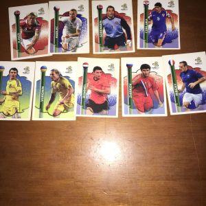 Κάρτες ποδοσφαίρου διάφορες 50 σύνολο!
