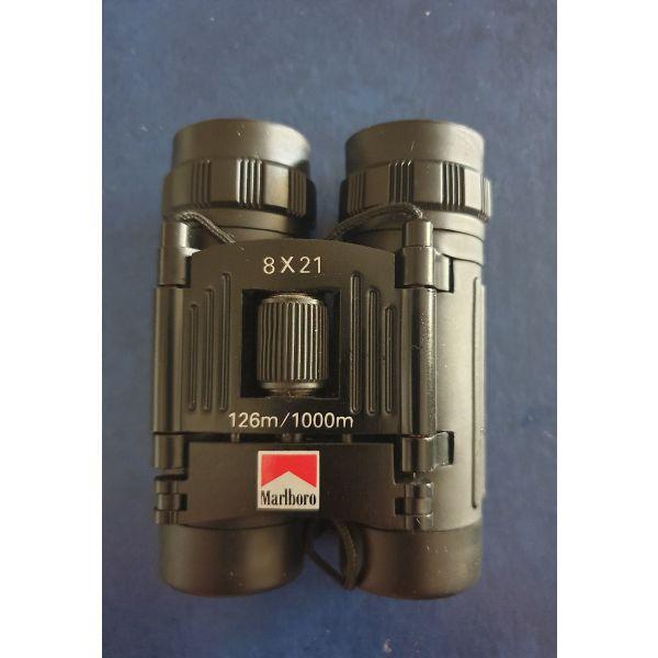 kialia Simmons Marlboro Adventure Team SCL 1156 8x21 FOV 372ft Binoculars Leather Case
