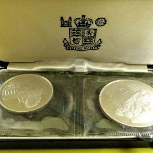 ΚΥΠΡΟΣ 1976 500 Mils & One pound .Αναμνηστική  έκδοση 2η επέτειος της Τουρκικής εισβολής στη Βόρεια Κύπρο