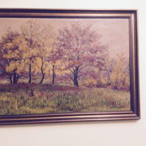 Πίνακας Ρώσου   Ζωγράφου  ΚΑΝΤΣΕΜΟΒ.    Διαστάσεις   60   χ    42  cm.