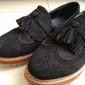 Βελουτέ Oxford παπούτσια Νο 39