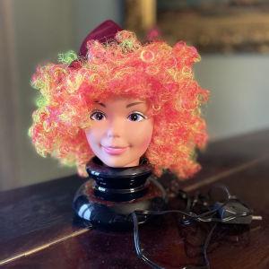 Vintage Φωτιστικό Πρόσωπο Κοπέλας