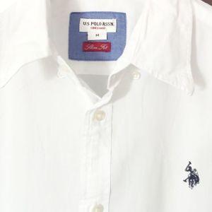 U.S. POLO ASSN MEDIUM SLIM FIT Λευκό πουκάμισο