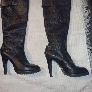 Γυναικείες μπότες δερμάτινες Alberto Guardiani