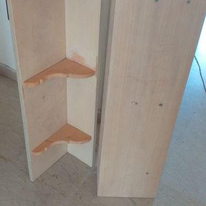 Ράφια τοίχου ξύλινα (2 τεμ.) Διαστάσεις 1m x 25cm Παραλαβή από Πειραιά
