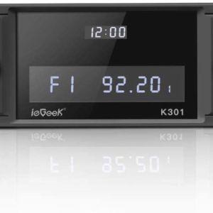 Στερεοφωνικό ραδιόφωνο αυτοκινήτου,ieGeek K103 Λειτουργία 60W x 4 MP3 / FM / AM / SD / AUX / USB με περιστροφικό διπλό έλεγχο έντασης ήχου και ανεξάρτητο ρολόι