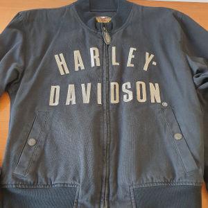 HARLEY DAVIDSON DENIM Bomber Jacket size L Αυθεντικό Ανδρικο Μπουφαν Φθινόπωρο / Άνοιξη Harley and Davidson Harley - Davidson