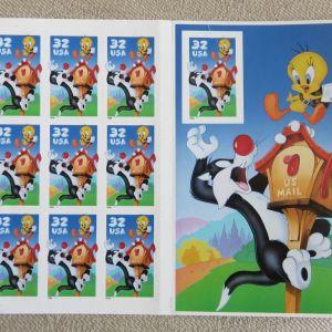 Γραμματοσημα USA Sylvester & Tweety