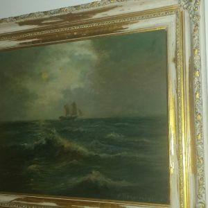 Παλαιολόγος Χαράλαμπος θαλασσογραφία πίνακας ζωγραφικής λάδι σε καμβά
