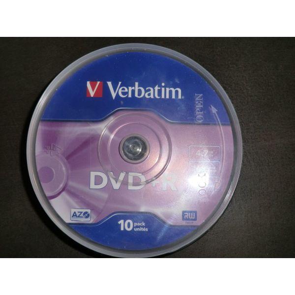 DVD-R Verbatim 4.7GB 16x 120 min se siskevasia pirgou apothikefsis (10 temachia)