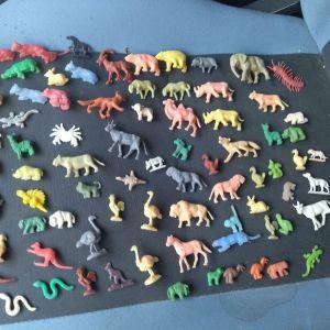 Πλαστικές φιγούρες ζωάκια δεκαετίας 60-70 όλες μαζί 15€